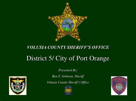 Volusia County Sheriff Office by Ppt Volusia County Sheriff S Office District 5 City Of