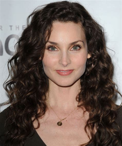 brunette curly hairstyles alicia minshew long curly casual hairstyle dark brunette