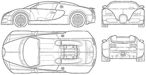 Bugatti Veyron Blueprints Car Blueprints Bugatti Veyron Eb 16 4 Blueprints Vector