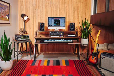 home studio production desk output launch platform a studio desk for musicians