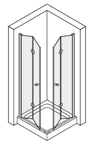 dimensioni box doccia box doccia doppia apertura a libro soffietto cristallo 6