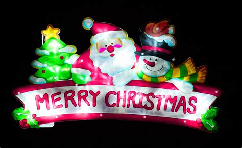white led merry christmas sign images