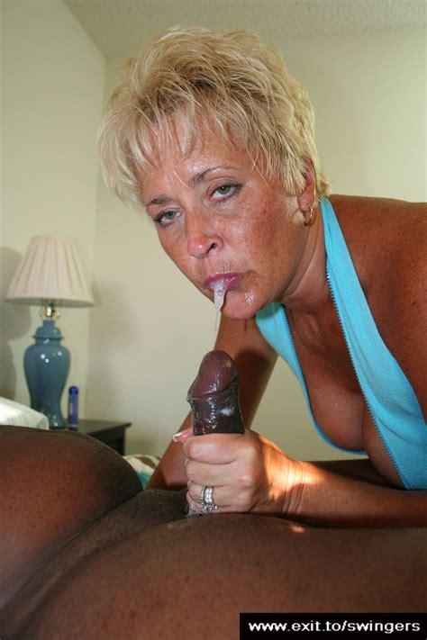 Swinger Mum Tracey Drools Bbc Cum Naked Blowjob Pics