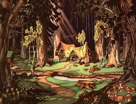 Disney Snow White Cottage by Disney S Medievalized Ecologies In Snow White And The