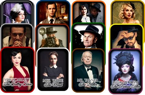 clue dinner search results for clue characters calendar 2015