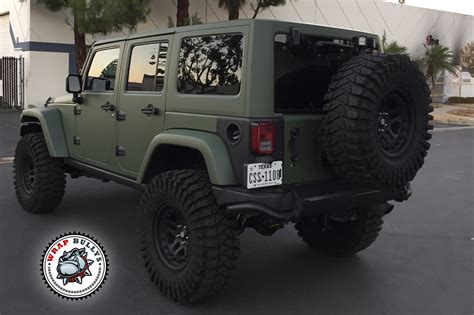 matte orange jeep matte army green jeep wrap wrap bullys