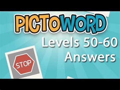 100 Floors Free Level 54 by Pictoword Levels 50 60 Answers