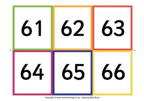 random number cards printable number flash cards 61 90