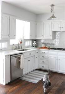 Small Kitchen With White Cabinets We Did It Our Kitchen Remodel