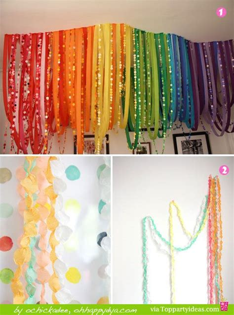 How To Make Streamers With Paper - not your boring everyday streamer decorations about 20