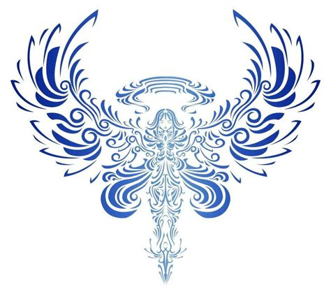 angel wing tribal tattoos tribal bird open wings design inspiration