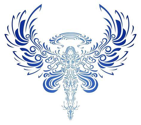 tribal angel wings tattoo designs tribal bird open wings design inspiration