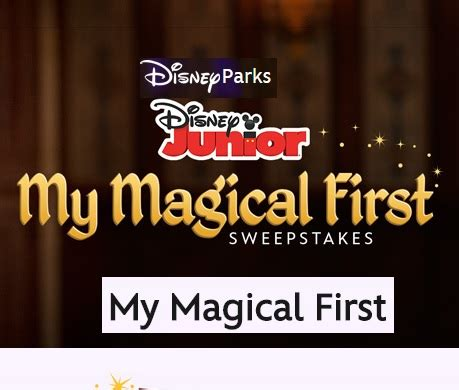 disney junior my magical first sweepstakes sweeps maniac - My Magical First Disney Sweepstakes