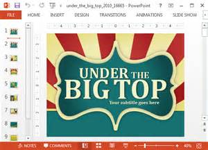 animated power point templates animated circus powerpoint template