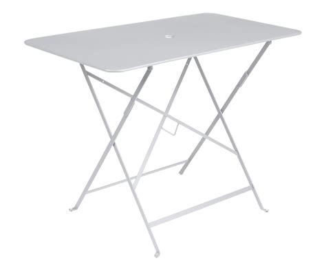 Table Fermob Bistro 97 X 57 Table Pliante Bistro 97 X 57 Cm 4 Personnes Trou Parasol Blanc Coton Fermob