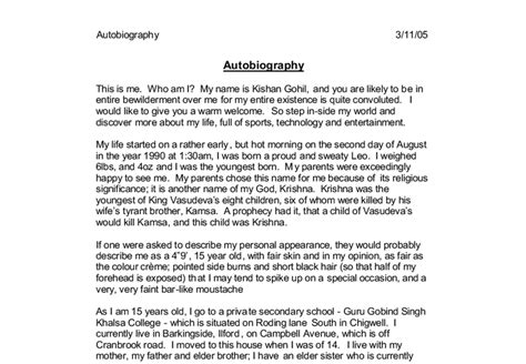 Autobiographical Essay by Ways To Start An Autobiography Essay What S A Way To Start An Autobiography