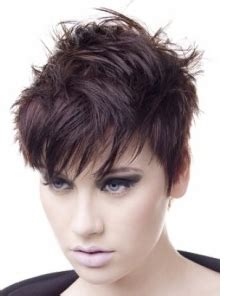bang spike haircut spiky women hairstyle with full of layers and sexy bang png