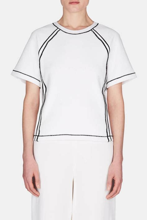 Seam Trim Shirt j w contrast seam t shirt white the line