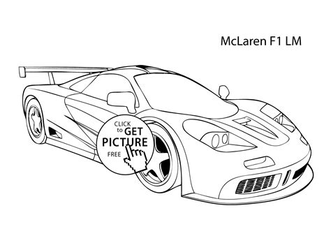 mclaren logo drawing car mclaren f1 lm coloring page cool car printable