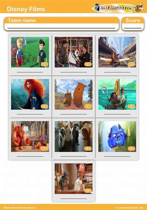 Disney Film Quiz Online | disney films mini picture quiz round