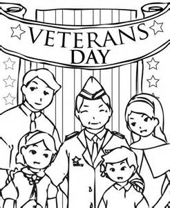 veterans day remembrance coloring home