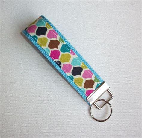 cute key pattern chevron key fob keychain wristlet candy jewels by