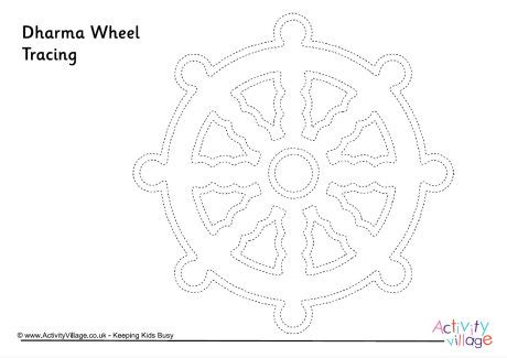 buddhist wheel of template dharma wheel tracing page