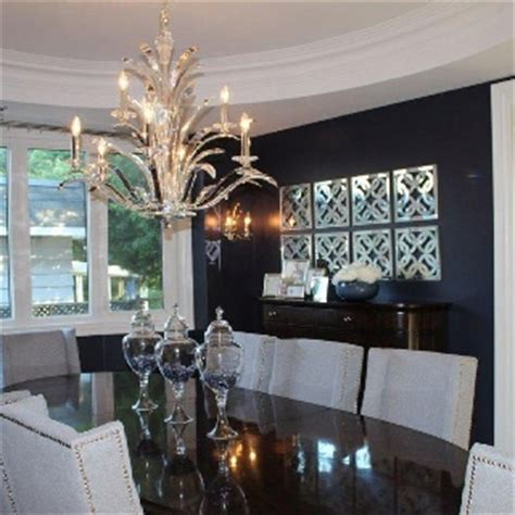 navy white dining room remodeling