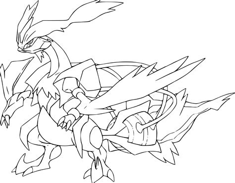 pokemon coloring pages of zekrom coloriage kyurem blanc pokemon 224 imprimer