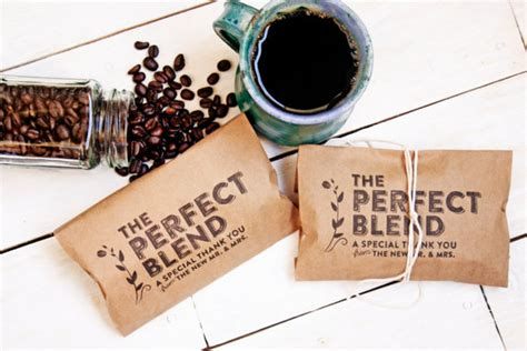 Wedding Favors Coffee by Wedding Favor Coffee Bag The Blend Budget Favor