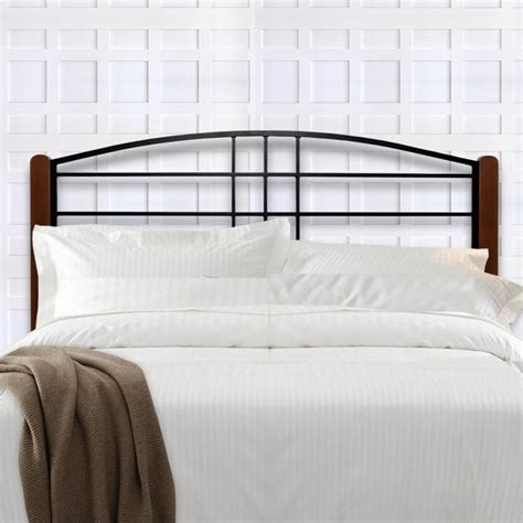 fashion bed dayton twin metal headboard in black grain