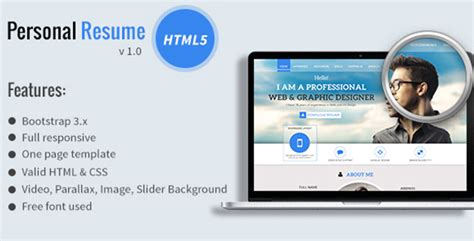 divergent personal vcard resume html template free personal resume vcard template themes codegrape