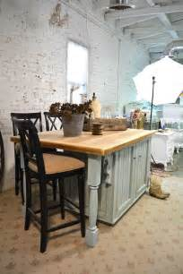 painted cottage chic shabby hand made farmhouse kitchen island