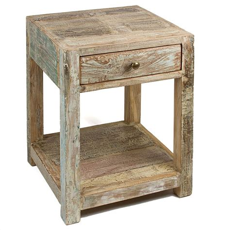 Reclaimed Wood Side Table Reclaimed Wood Side Table 200 Upcycle Furniture