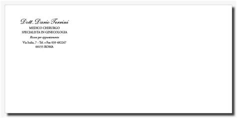 intestazione buste lettere sta buste senza finestra personalizzate per medici