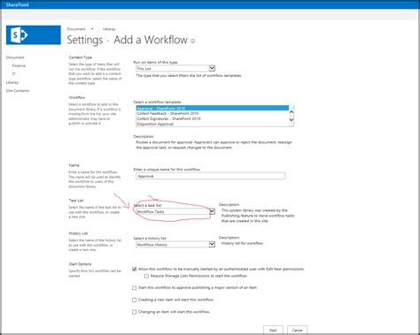 sharepoint workflow questions attaching workflows customize task list name sharepoint