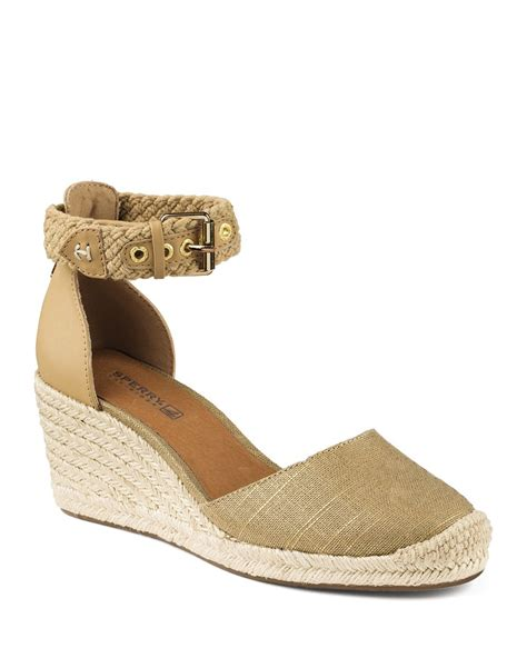 closed toe espadrille wedge sandals sperry top sider espadrille wedge sandals valencia
