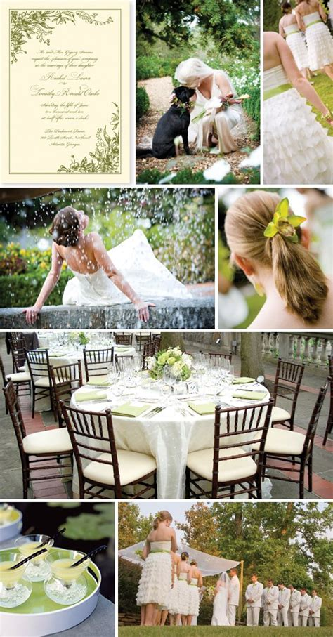 a garden wedding rustic wedding chic