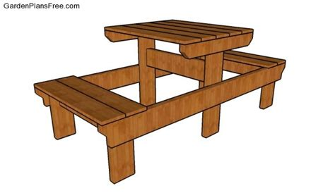 Small Picnic Table Plans Free Garden Plans How To
