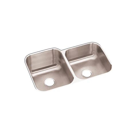 home kitchen sinks stainless steel elkay dayton undermount stainless steel 32 in double bowl