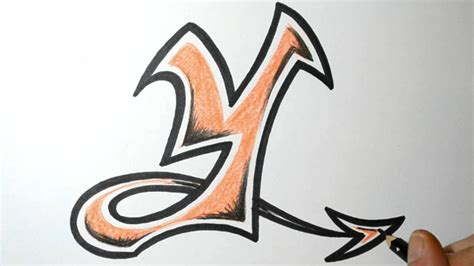 Letter Y Drawing by How To Draw Graffiti Letters Y