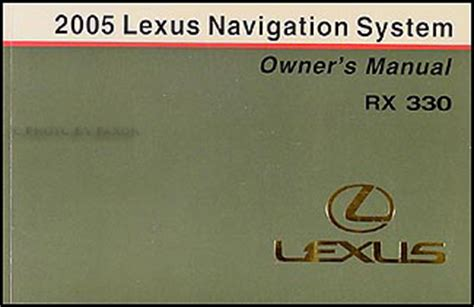 buy car manuals 2004 lexus rx navigation system base sport utility 4 door