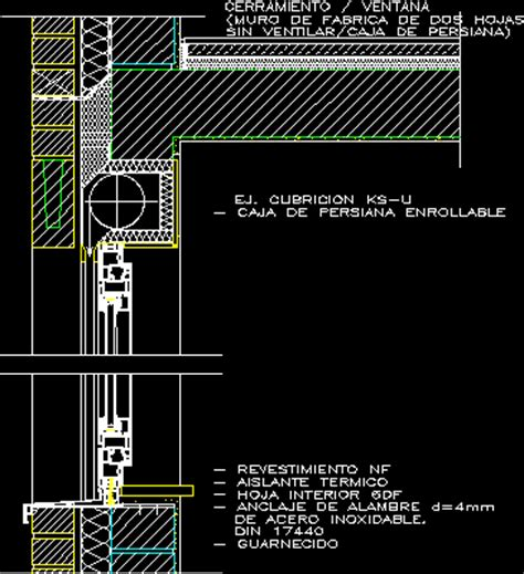 persiana dwg caja de persiana enrollable en autocad cad 108 76 kb