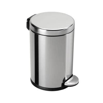 simplehuman bathroom trash can simplehuman 4 5 l polished stainless steel round mini step