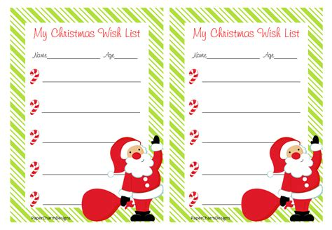 printable christmas list paper wish list paper new calendar template site