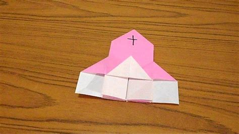 Religious Origami - simple origami lesson 28 church