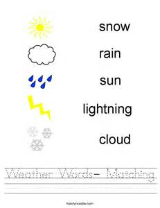 weather words matching worksheet twisty noodle