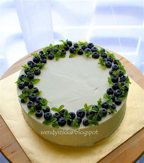 Blueberry Cake Decoration table for 2 or more blueberry yogurt mousse cake