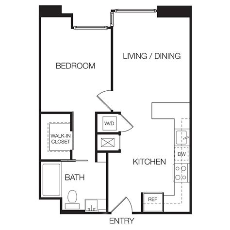 Floor Plan For One Bedroom Apartment | one bedroom apartment floor plans best home design 2018