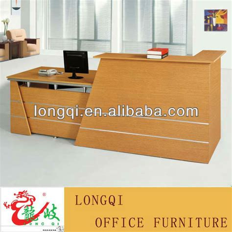 fashion modern office hotel wooden front counter desk